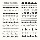 Hand drawn vector line border set and scribble Stock Image