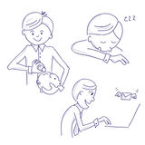 Hand drawn vector manager illustrations Stock Photos