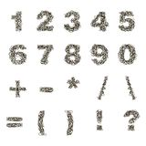 Hand drawn vector numbers Royalty Free Stock Photography