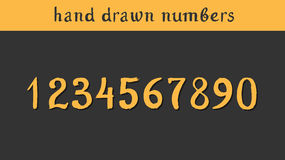 Hand drawn vector numbers Royalty Free Stock Image