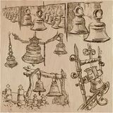 Bells - an hand drawn vector pack, freehand sketchiing Royalty Free Stock Photos