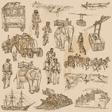 An hand drawn vector pack - TRANSPORT Royalty Free Stock Image