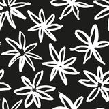 Hand drawn vector pattern Stock Images