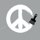 Hand-drawn vector peace sign, antiwar symbol from 60s made with Royalty Free Stock Photography