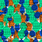 Hand Drawn Vector Ramadan Background. Royalty Free Stock Image