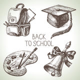 Hand drawn vector school object set Stock Images