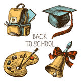 Hand drawn vector school object set Royalty Free Stock Image