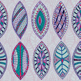 Hand drawn vector seamless abstract ethnic pattern Royalty Free Stock Images
