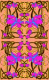 Hand drawn vector seamless pattern in art Nouveau style. royalty free illustration