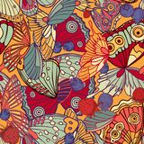 Butterfly seamless pattern royalty free illustration