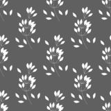 Hand drawn vector seamless pattern with leaves and branches. Can be used for fabrics, wallpapers, scrap-booking, ornamental vector illustration
