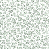 Hand drawn vector seamless pattern with mint leaves vector illustration