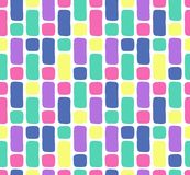 Hand drawn vector seamless pattern in retro memphis style. 80s disco style ornament in bright colors for fabric, wrapping paper, stock photos