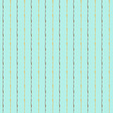 Hand Drawn vector seamless pattern. Turquoise and golden stripes. Fabric design. Hand Drawn vector seamless pattern. Turquoise and golden stripes Royalty Free Stock Images