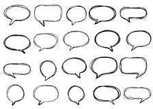 Hand-drawn vector speech bubbles sketchy doodle set Royalty Free Stock Photo