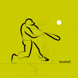 Hand drawn vector sport athlete silhouette isolated. Stock Photography