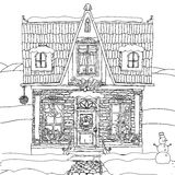 Hand drawn vector stock illustration of house Stock Photo