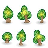 Hand drawn vector tree set for your design. This is file of EPS10 format Stock Photography