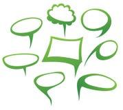 Hand-drawn vector van toespraakbellen Stock Foto