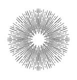 Hand Drawn vector vintage elements - sunburst bursting rays.. Perfect for invitations, greeting cards, blogs, posters and more Stock Image