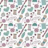 Hand drawn vector vintage illustration - Seamless pattern Stock Image