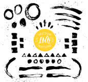 Hand drawn vector vintage texture. Abstract brush strokes Royalty Free Stock Photography