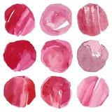 Hand Drawn Vector Watercolor circles Royalty Free Stock Image