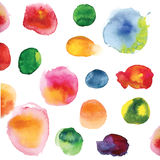 Hand drawn vector watercolor stains. Stock Photos