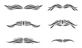 6 hand drawn vectored  flourish frames. With 3 couples have header and footer Royalty Free Stock Photography