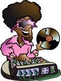 Hand-drawn Vectorillustratie van een Disco DJ Royalty-vrije Stock Fotografie