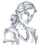 Hand-drawn vectorillustratie van mooie romantisch en teder stock illustratie