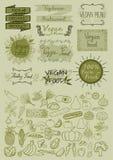 Hand drawn vegan menu Stock Photo