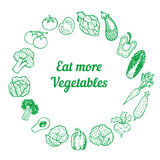Hand drawn vegetable frame. Stock Photography