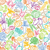 Hand-drawn vegetables background. Royalty Free Stock Image