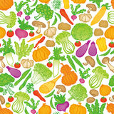 Hand-drawn vegetables background. Stock Images