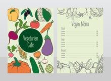 Hand Drawn Vegetarian Cafe Menu Template Royalty Free Stock Image