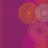 Hand drawn vertical seamless border in indian style Stock Photography