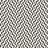 Hand Drawn Vertical ZigZag Lines. Abstract Geometric Background Design. Royalty Free Stock Photo