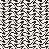 Hand Drawn Vertical ZigZag Lines. Abstract Geometric Background Design. Stock Photography