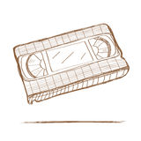 Hand drawn video tape Stock Images