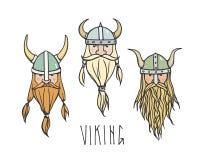 Hand drawn vikings Royalty Free Stock Image