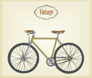 Hand drawn vintage bicycle. Vector stock illustration