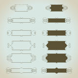Hand-drawn vintage calligraphic  design elements set. Vector. Useful for wedding invitations, greatings cards etc Royalty Free Stock Image