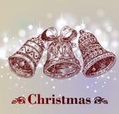 Hand drawn vintage christmas decoration. Royalty Free Stock Image