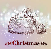 Hand drawn vintage christmas decoration. Royalty Free Stock Photos