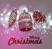 Hand drawn vintage christmas decoration. Royalty Free Stock Photos
