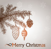 Hand drawn vintage christmas decoration. Stock Images