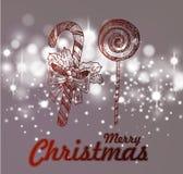 Hand drawn vintage christmas decoration. Stock Image