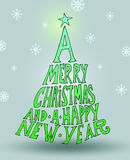 Hand drawn vintage christmas decoration. Royalty Free Stock Photography