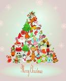 Hand drawn vintage christmas decoration. Stock Photography